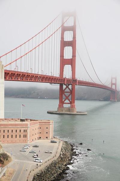 The golden gate bridge to sausalito, San Francisco by The Belle Blog