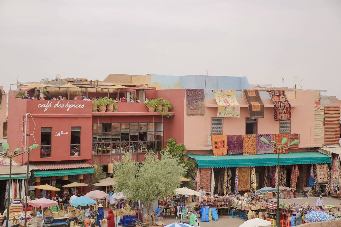 Rooftop cafes in Marrakech  Morocco. Nomad restaurant by The Belle Blog