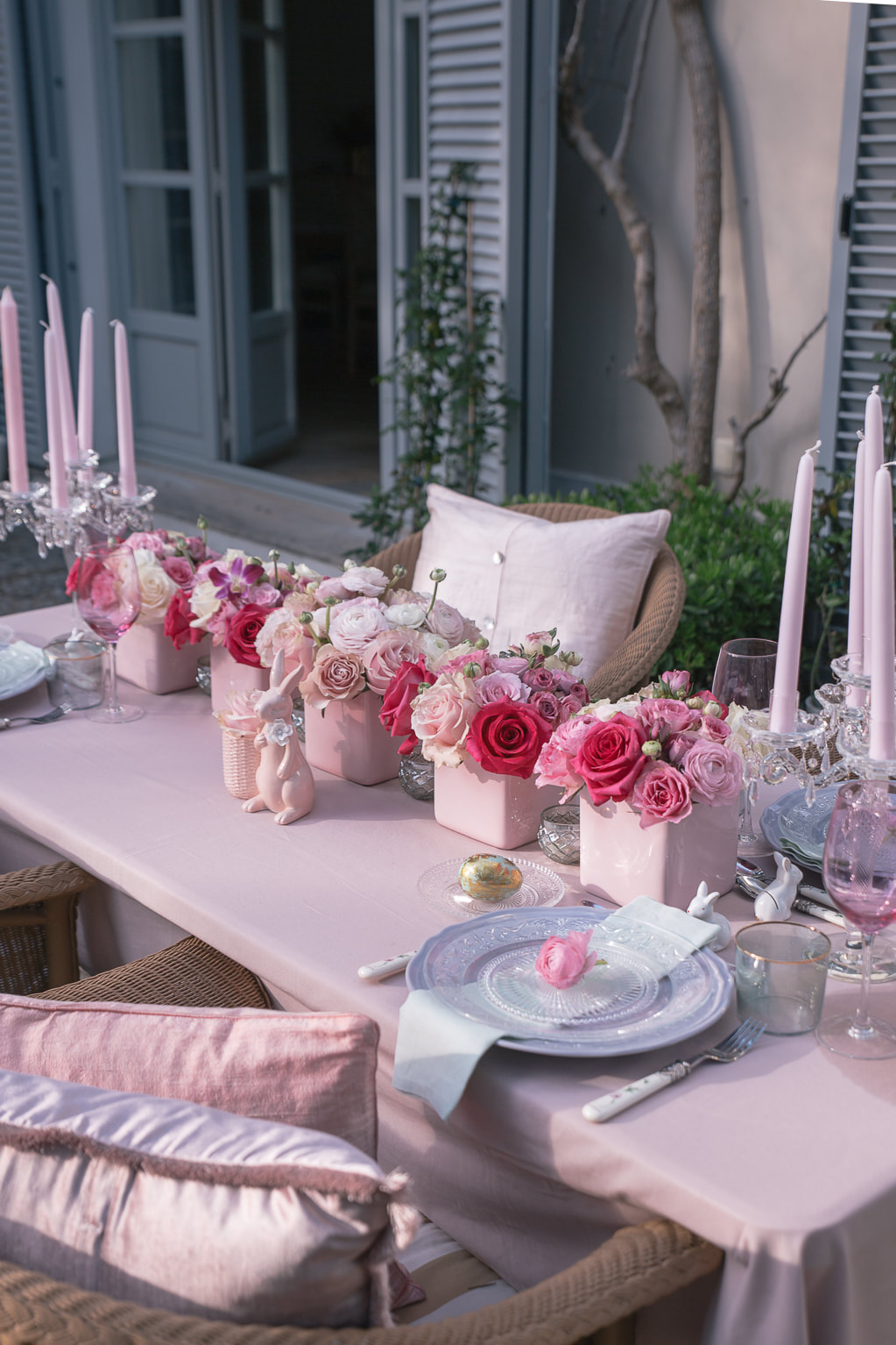 Easter entertaining and tablescape Inspiration by The Belle Blog