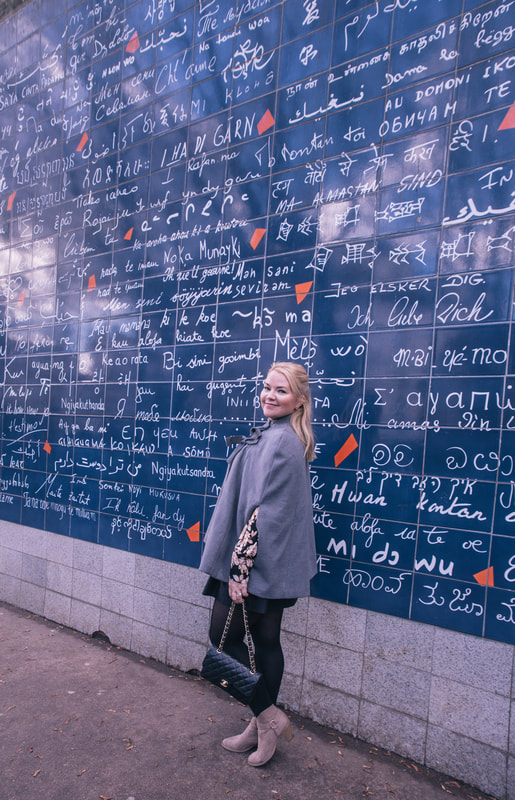 Le Mur des je t'aime. Montmarte, Paris by The Belle Blog